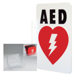 AED Wall Sign_L-shape (LSP) & Plastic Wall Mount