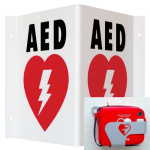 AED Wall Sign_Triangle (TSP) & Metal Wall Mount