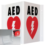 AED Wall Sign_Triangle (TSP) & Plastic Wall Mount