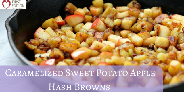 Sunday Recipe Makeover: Caramelized Sweet Potato Apple Hash Browns