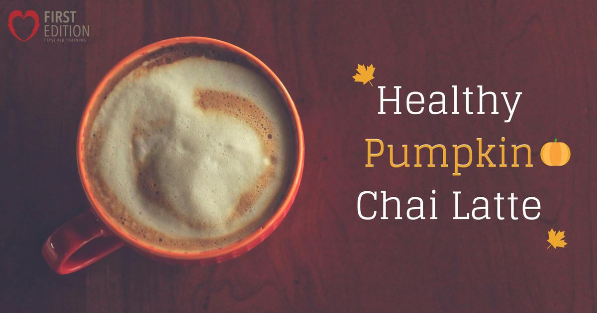 Healthy Pumpkin Chai Latte