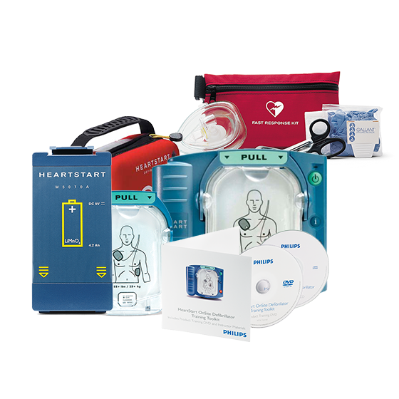 HeartStart Onsite AED PACKAGE contents