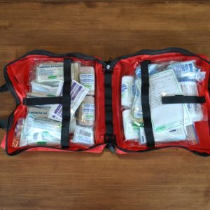 OHS AB#1 First Aid Kit open showing contents
