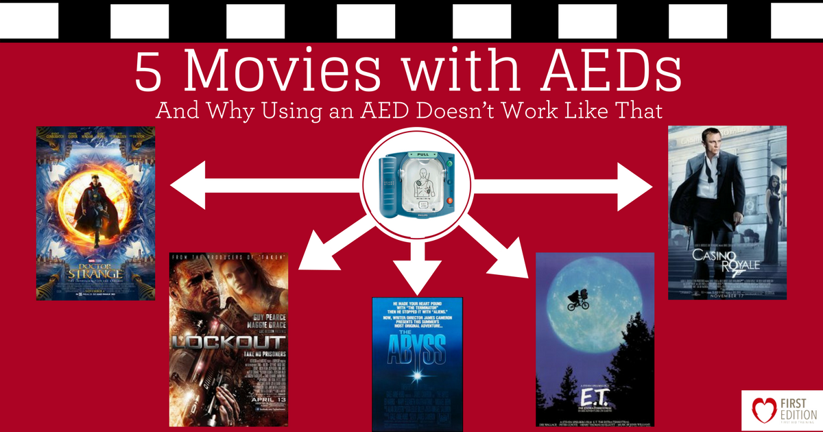 5 Movies with AEDs - Why Using an AED Doesn't Work Like That