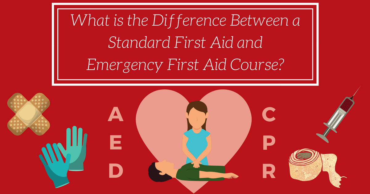 What S The Difference Between A Standard First Aid And Emergency