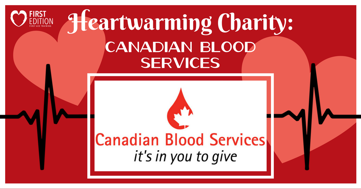 Heartwarming Charity Blog - Candian Blood Services Image