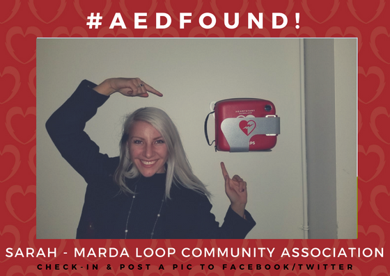 AED FOUND - SARAH MARDA LOOP COMMUNITY