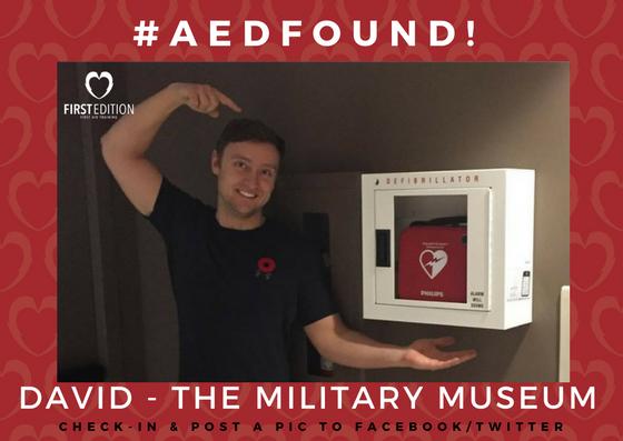AED FOUND - DAVID - MILITARY MUSEUM