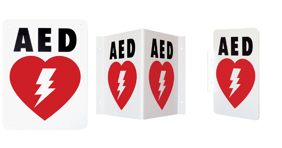 AED-Wall-Signs - AED locations