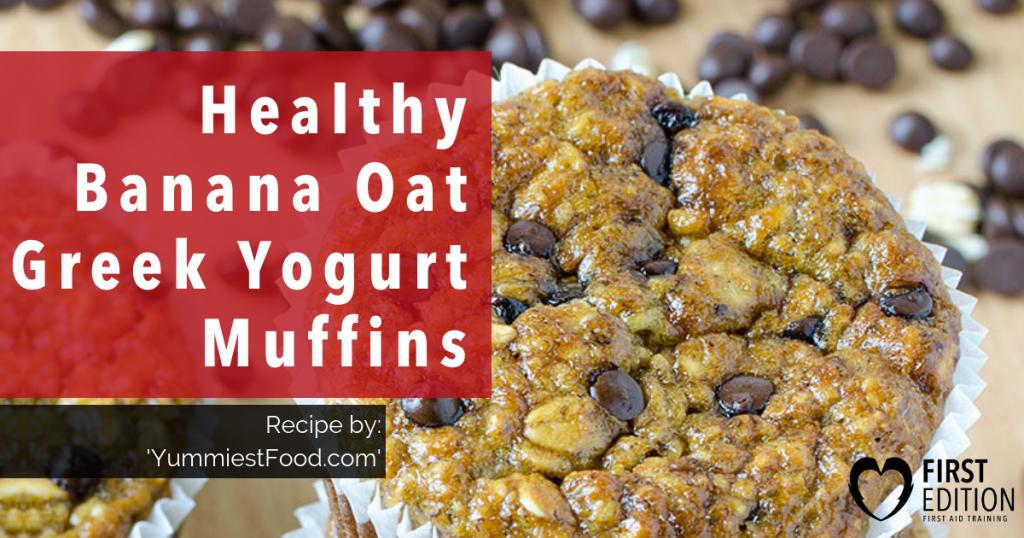Healthy Banana Oat Greek Yogurt Muffins