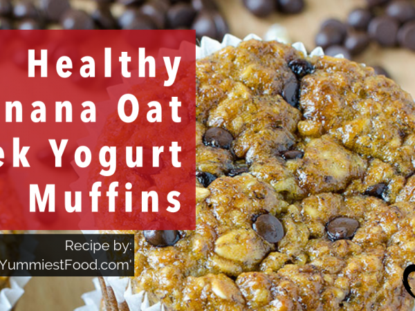 Healthy Banana Oat Greek Yogurt Muffins