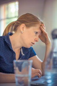 worried looking woman