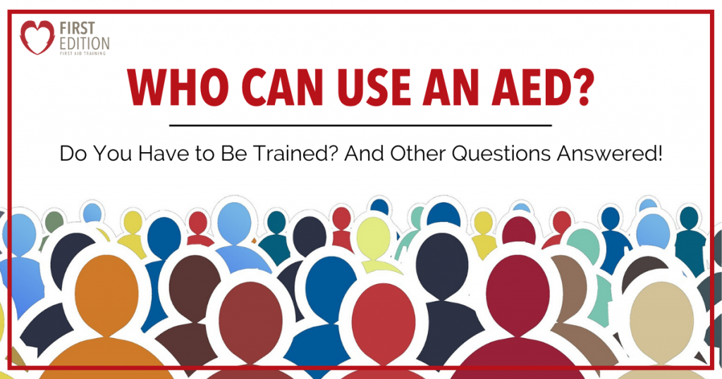Who Can Use an AED Image