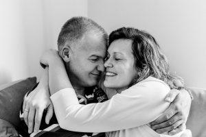 couple hugging