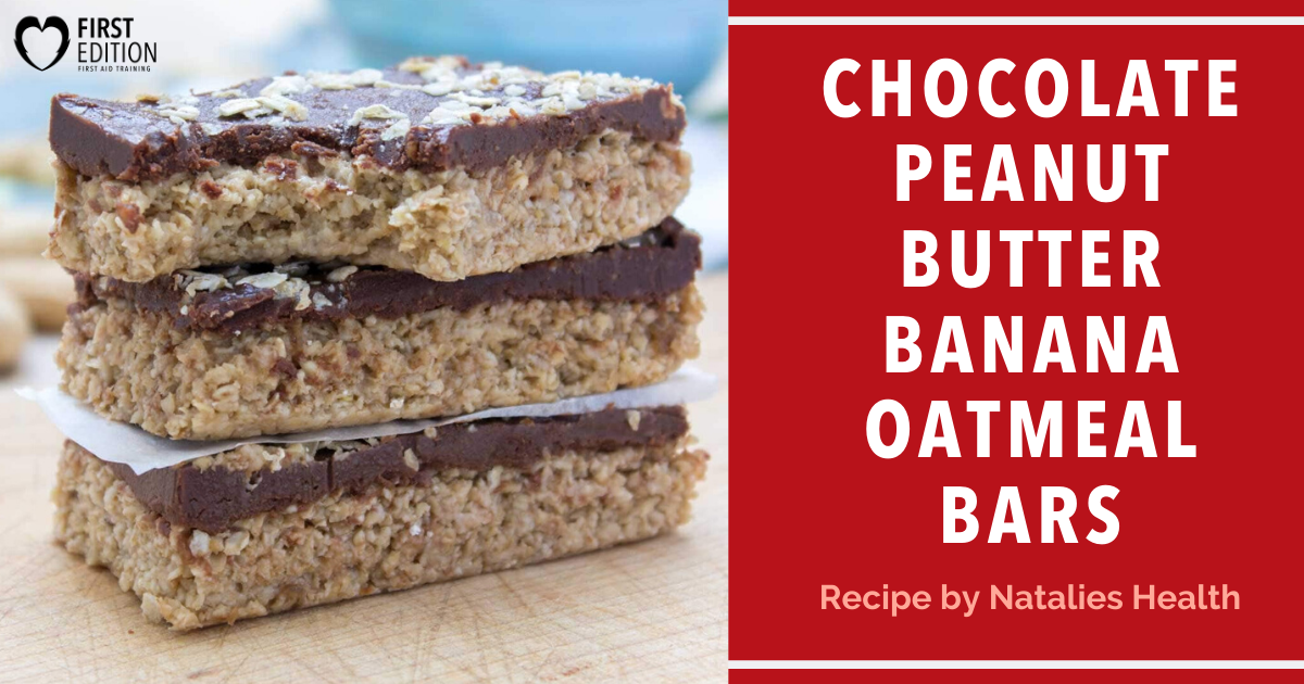 Chocolate Peanut Butter Banana Oatmeal Bars Image