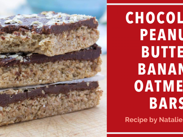 Chocolate Peanut Butter Banana Oatmeal Bars Image