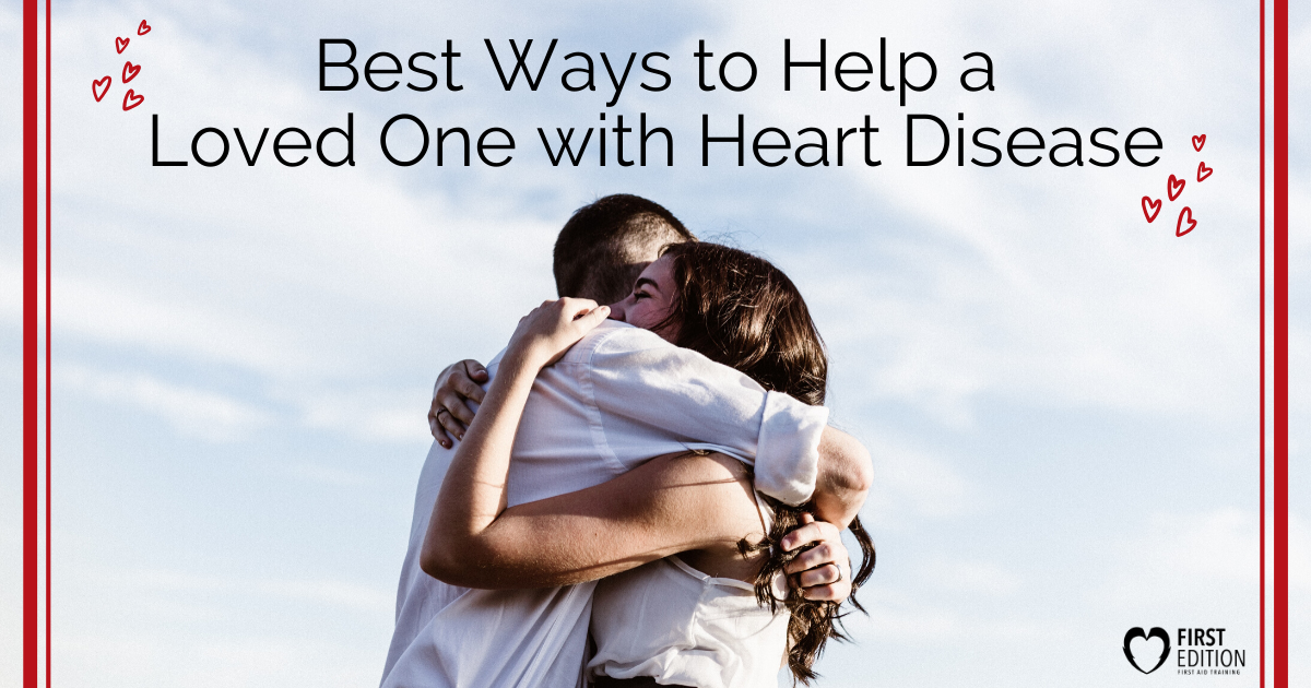 people hugging and heart graphic