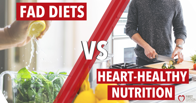 Fad diets and heart health graphic