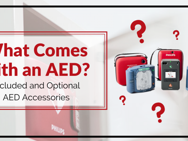 Various types of AEDs and cases